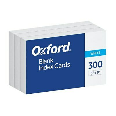 Oxf10005ee Oxford Blank Index Cards 5 X 8 White 300 Per Pack