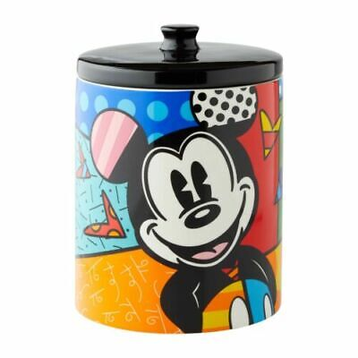 Disney Romero Britto MICKEY MOUSE CANISTER Large Stoneware COOKIE JAR 6004975
