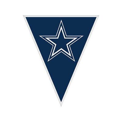 Dallas Cowboys Birthday Party (NFL DALLAS COWBOYS PLASTIC FLAG BANNER (1) ~ Birthday Party Supplies Hanging)