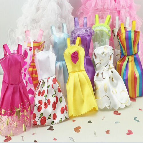 Купить Generic - US 10 pcs/Lot Fashion Handmade Party Clothes Dresses outfit for Barbie Doll Toy