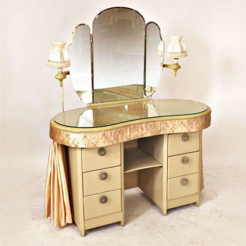 Art deco dressing table ebay - Deco table retro ...
