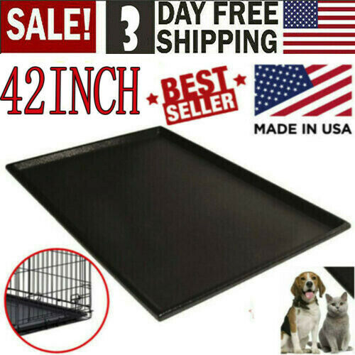 Pet Dog Crate Replacement Pan 42 Inch Plastic Liner Repl Tra