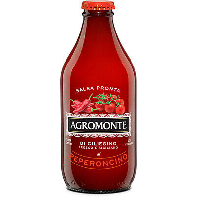 Ready Pasta Sauce Cherry Tomato with Hot Red Pepper by Agromonte (330 -