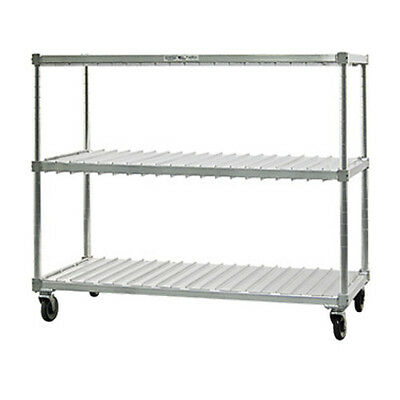 New Age 95413 Mobile 2 Level Tray Drying Rack W/ (40) Trays per Level Capacity