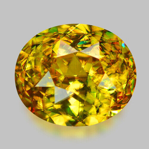 4.25CTS WONDERFUL LUSTER NATURAL HONEY YELLOW GOLDEN SPHENE VIDEO IN DESCRIPTION