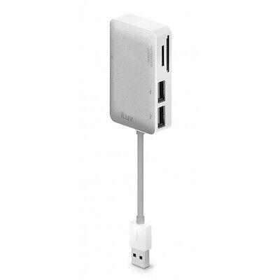 iLuv icb718 Lettore Schede di memoria con 2 USB porte ideale per Mac