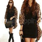 Blouse Top Chiffon Leopard