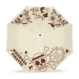 Anime One piece Three Folding Rain Umbrella Cosplay Sun Umbrella