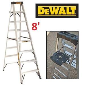 NEW* DEWALT ALUMINUM STEP LADDER 8' DXL2010-08 211839149 300LBS RATING - TYPE IA