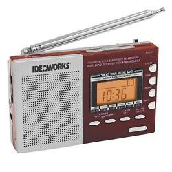 Digital Worldwide Radio Alarm Clock Am FM Shortwave Bands Emergency Kit