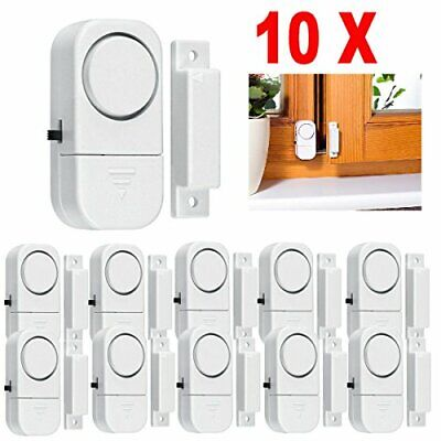 Magnetic Alarm Sensor (Door Alarm Sensor White Wireless Home Window Burglar Security Magnetic)
