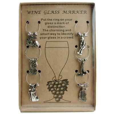 Golf Theme Wine Glass Charm Set of 6 Charms for Glasses Party Gift Idea Themed](Golf Party Ideas)