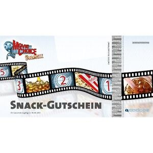 4x MovieChoice SNACK-GUTSCHEIN - SNACK & GETRÄNK Kino Cinemaxx Cineplex Cinestar