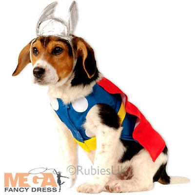 Thor Pet Dog Fancy Dress Superhero Comic Book - Thor Kostüm Hund