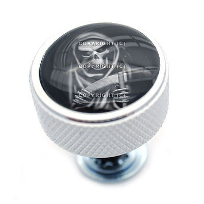 Chrome Billet  Grim Reaper  Knurled Bolt For Harley Mounting Seat To Fender