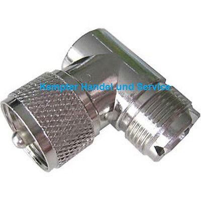 UHF-Stecker (PL)- Winkelstecker 90°, PL-Stecker auf PL-Buchse
