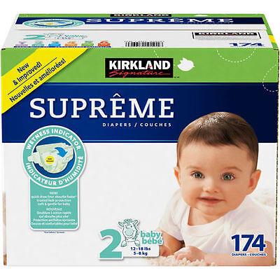 Kirkland Signature Supreme Diapers Size 2 174 Ct SEALED!!!