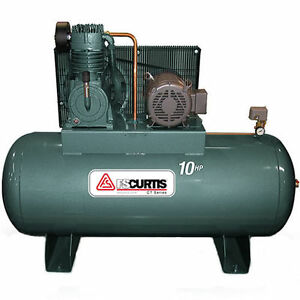 AIR COMPRESSOR  3-5 HP. TWO STAGE  HORIZONTAL .