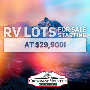 RV Lots For Sale @ Crowsnest Mountain Resort - $29,900.00