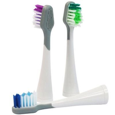 Platinum Sonic Dazzlepro Replacement Heads for Toothbrush-Set Of 3-New FREE SHIP