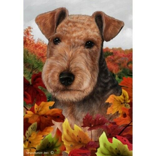 Fall House Flag - Lakeland Terrier 13234