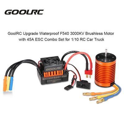 GoolRC F540 3000KV Brushless Motor with 45A ESC Combo Set for 1/10 RC Truck J8S6