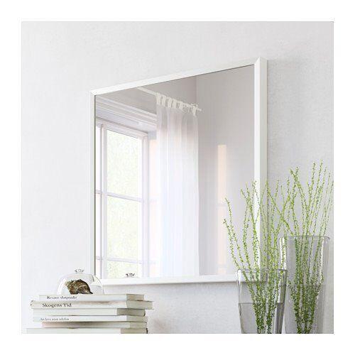 "Ikea ""Stave"" Mirror 70cm x 70cm WHITE"