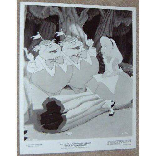ALICE IN WONDERLAND - black and white print - DISNEY #13