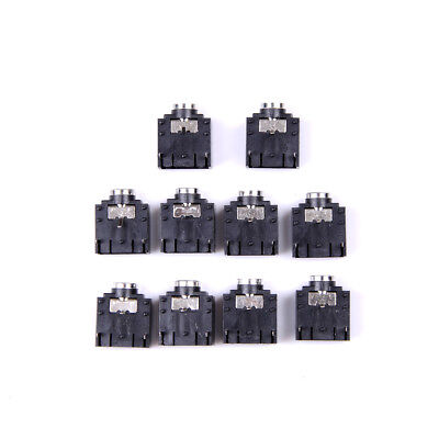 New 10 Pcs 3 Pin PCB Mount Female 3.5mm Stereo Jack Socket Connector BR