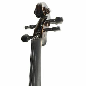Ebony Fitted Flamed One-Piece Solid Wood Violin  (Brand new) Kitchener / Waterloo Kitchener Area image 4
