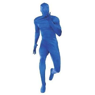 NEW Blue Skin Suit Body Jump Suit Halloween Adult Costume Large (Blue Skin Suit Kostüm)