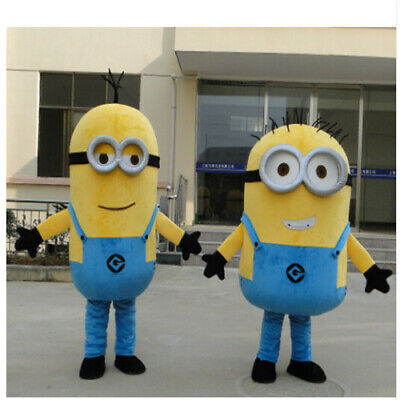 Halloween Minions Despicable Me Mascot Costume Fancy Dress Free Ship Adult](Halloween Minions)