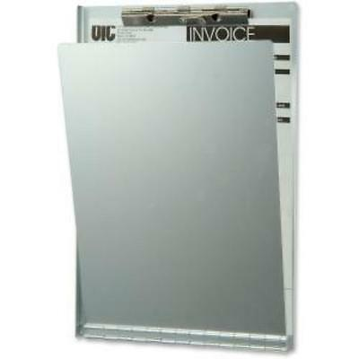 Oic Privacy Cover Aluminum Clipboard - 8.50 X 11 - Low-profile - Oic83213