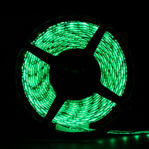 Green Waterproof 5050 SMD 300LED 5M 60LED/M Light Strip Flexible 12V