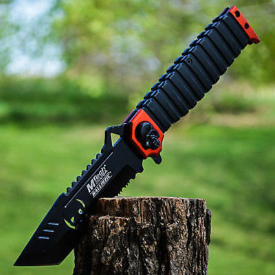 "10"" SPRING ASSISTED OPEN Tanto Blade FOLDING POCKET KNIFE Bowie Combat Switch"