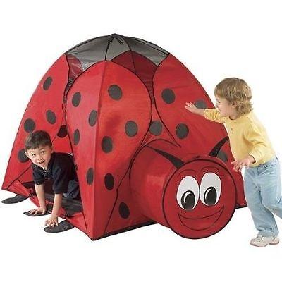 Jumbo Ladybug Play Tent Tunnel Hut Carrying Case Kids Playhouse indoor/outdoor
