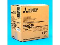 "Mitsubishi CK9046 paper and ink roll / 600prints, 4""x 6"" /"