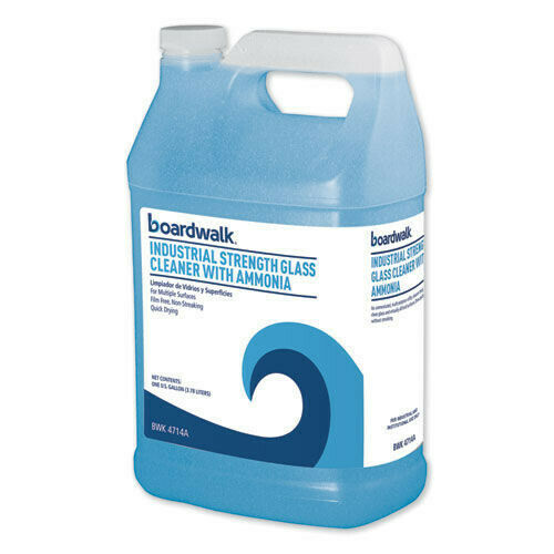 Boardwalk 4714A 4/CT 1 gal Industrial Strength Glass Cleaner w/Ammonia New