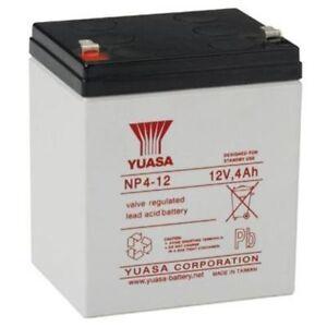 yuasa np4 12 12v 4ah premium grade rechargeable mower strimmer battery ebay. Black Bedroom Furniture Sets. Home Design Ideas