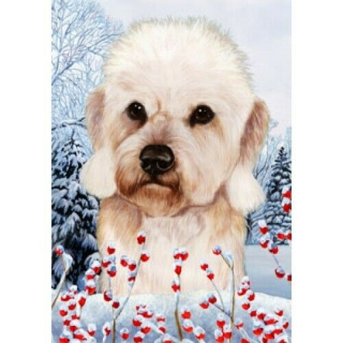Winter House Flag - Mustard Dandie Dinmont Terrier 15210
