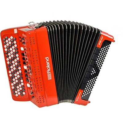 Roland FR-4XB RD V-Accordion Red Digital Accordion Button Keyboard Type