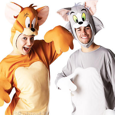 Tom & Jerry Adults Fancy Dress 1940s Cartoon Characters Mens Ladies Costumes New (Tom & Jerry Costumes)