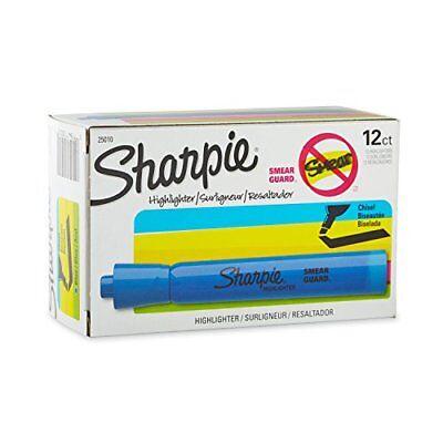 Sharpie 25010 Accent Tank-style Highlighter Fluorescent Blue 12-pack