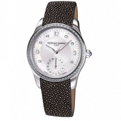 Frederique Constant Maxime Ladies Watch Fc 700Mpwd3md6 Womens Diamonds Leather
