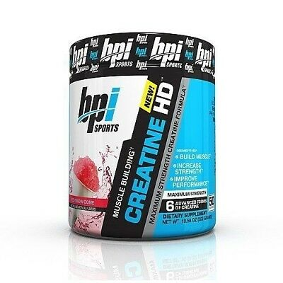 BPI Sports Creatine HD Red Snow Cone, Best Creatine 50 Servings