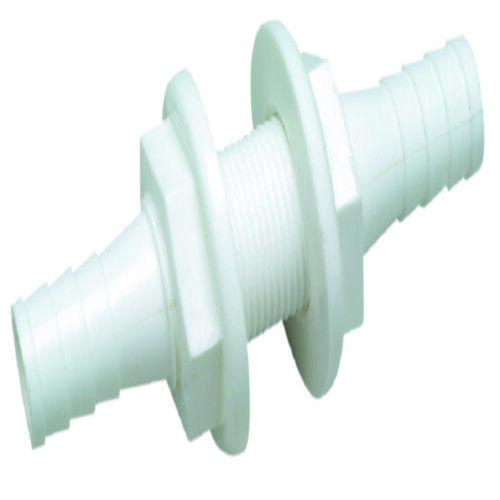 "Boat Marine Plastic Thru-Hull Connector 5//8/"" Hose ID 3-3//8/"" Length White"