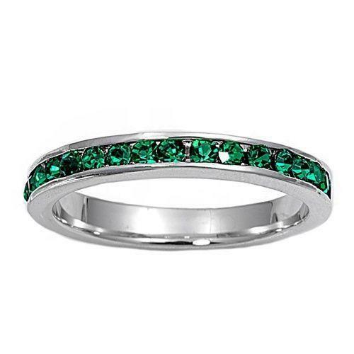 v expressions labcreated emerald silver sterling p stackable in created eternity band bands lab
