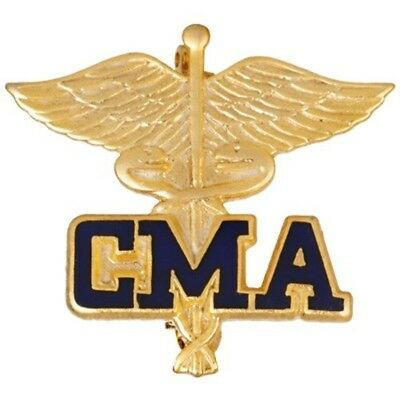 Certified Medical Assistant Pin CMA Caduceus Emblem Graduation Pins Gold Plated