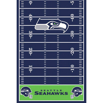 NFL SEATTLE SEAHAWKS PLASTIC TABLE COVER ~ Birthday Party Supplies Decoration (Nfl Party Supplies)