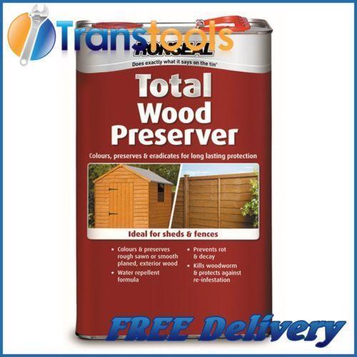 ronseal wood preserver home furniture diy ebay. Black Bedroom Furniture Sets. Home Design Ideas